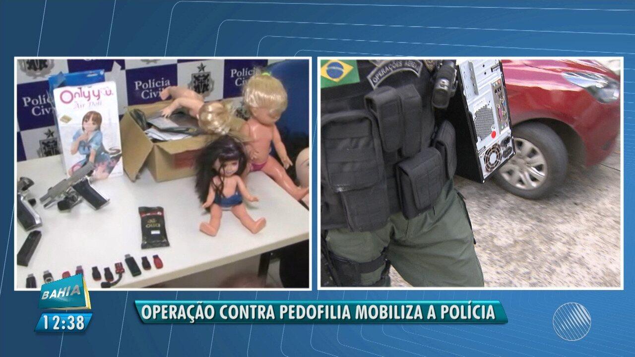 Operação de combate à pedofilia cumpre 26 mandados no estado