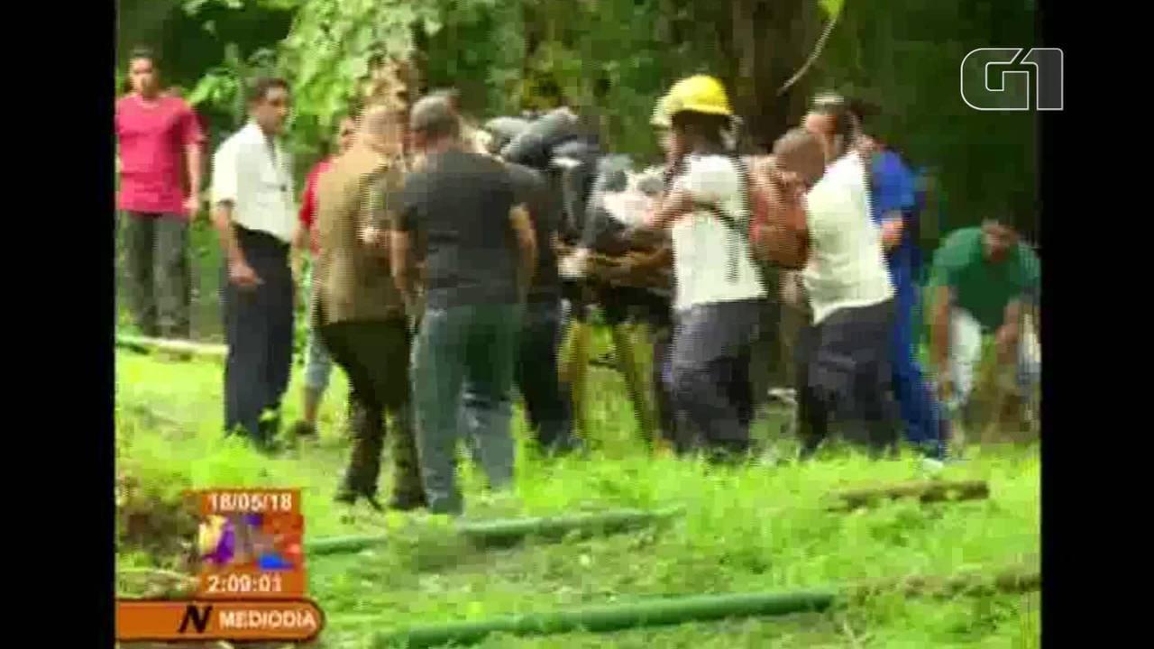Boeing 737 cai logo após decolar de Cuba