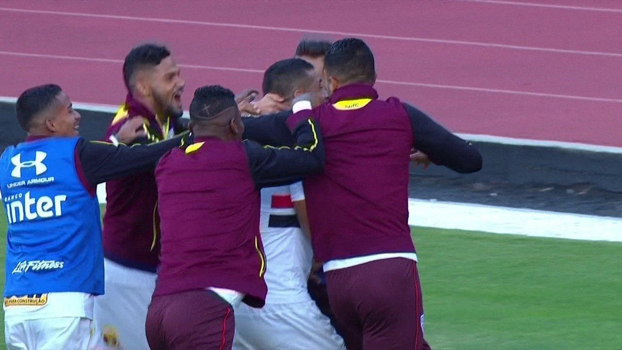 O gol de São Paulo 1 x 0 Santos pela 6ª rodada do Brasileirão