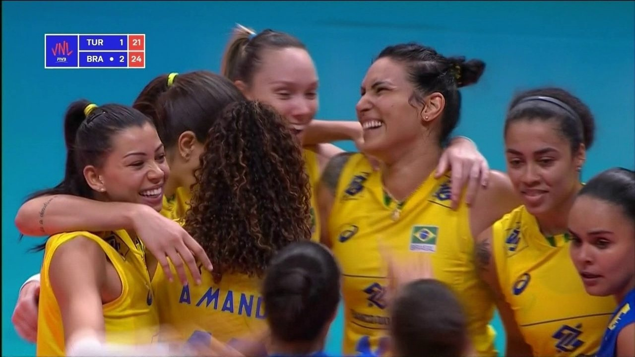 Melhores momentos de Turquia 1 x 3 Brasil pela Liga das Nações 2018