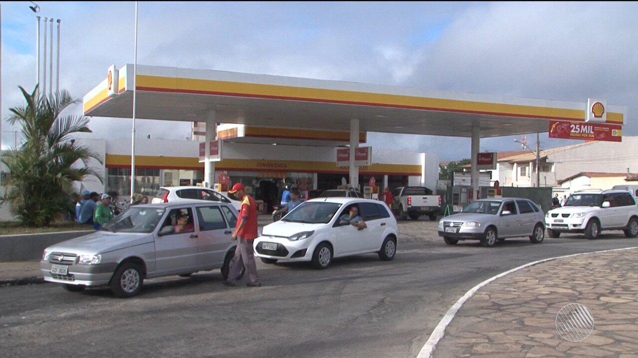 Motoristas reclamam da falta de gasolina em postos de Vitória da Conquista