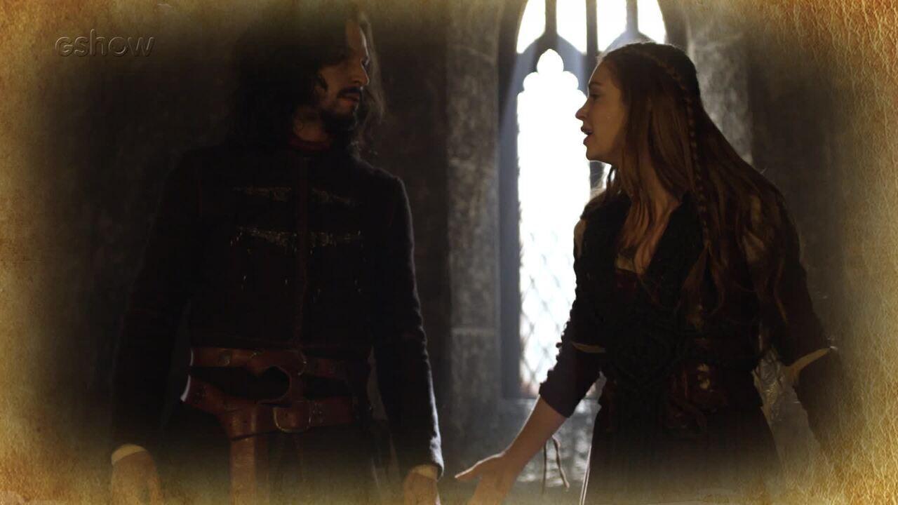 Resumo de 28/05: Afonso intervém na briga entre Amália e Catarina