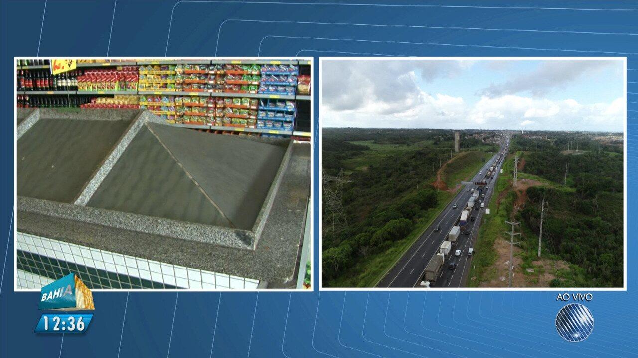 Protesto de caminhoneiros afeta estoque de alimentos no comércio de Barreiras