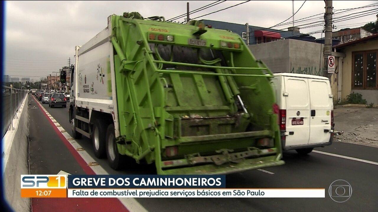 Falta de combustível prejudica serviços básicos em São Paulo