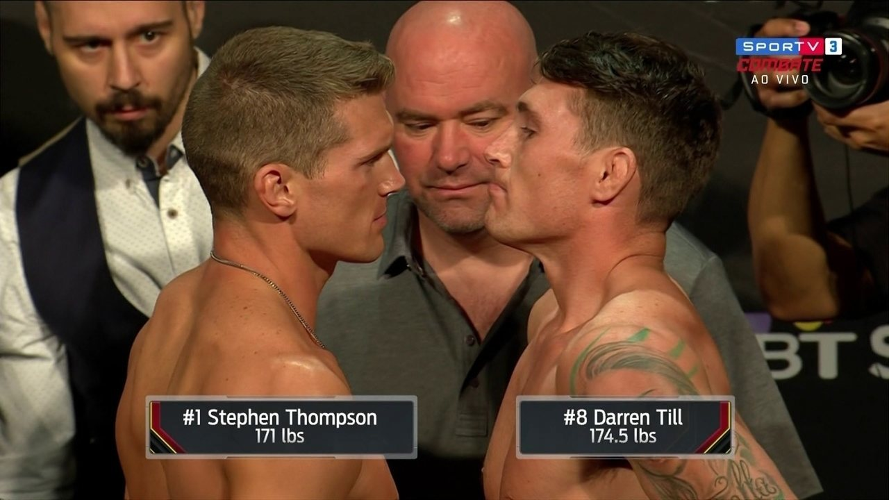 No peso-médio-médio, Darren Till e Stephen Thompson batem o peso no UFC Liverpool
