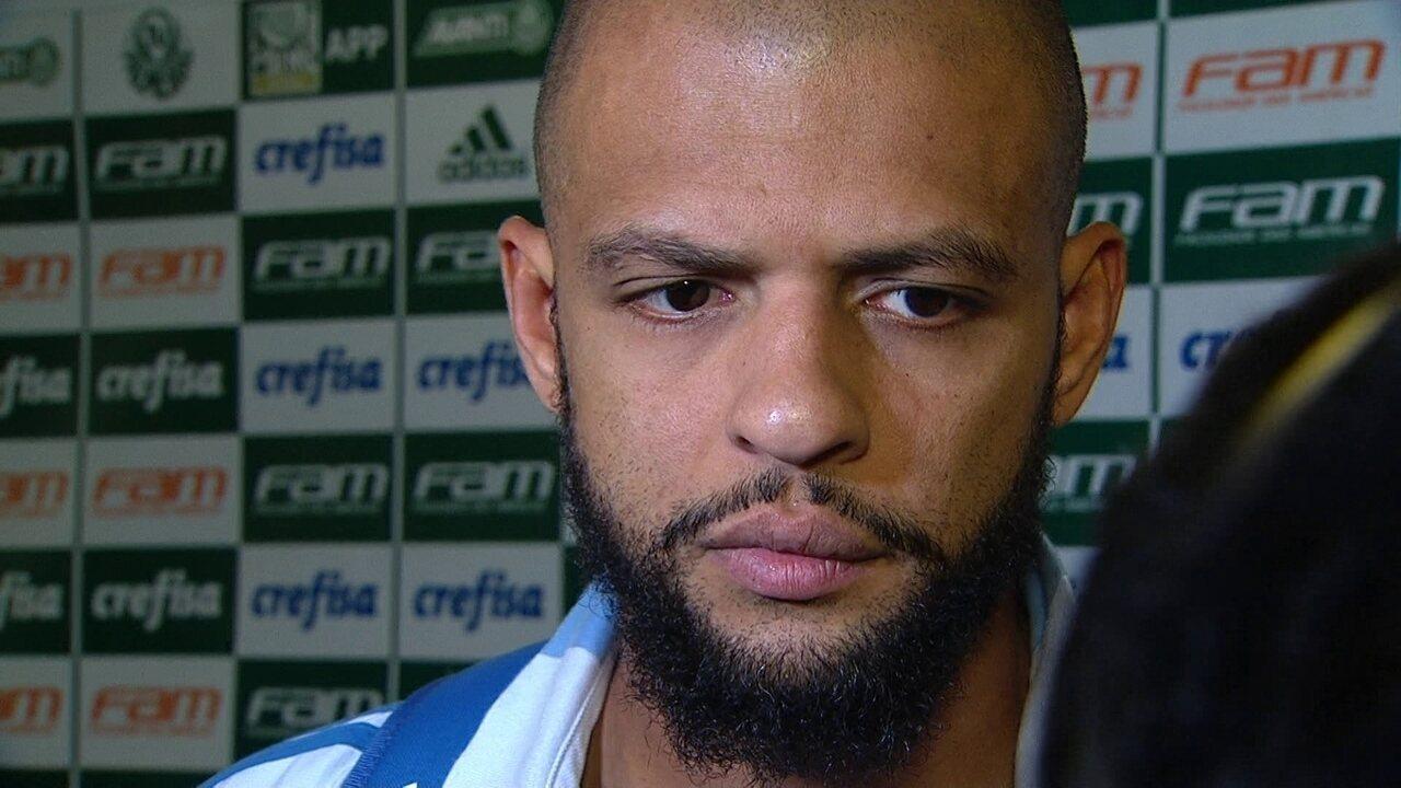 Felipe Melo analisa derrota do Palmeiras