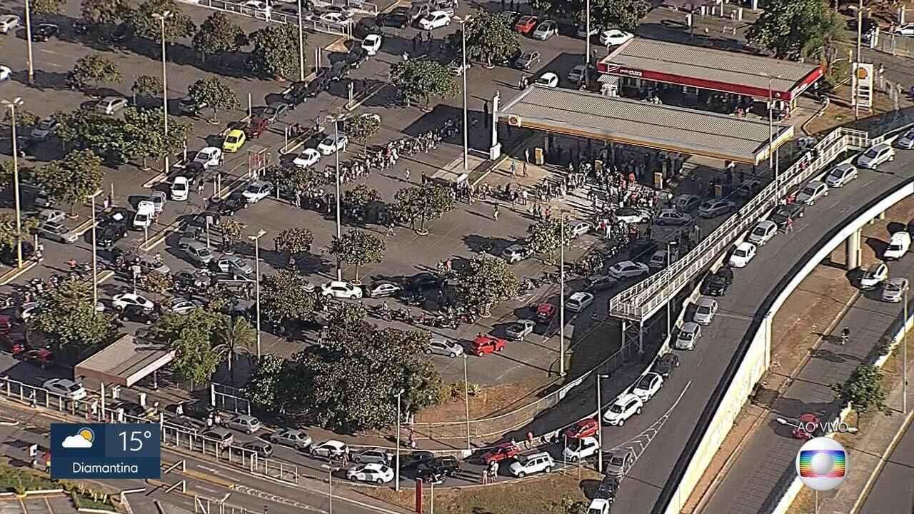 Posto em Belo Horizonte ainda não inaugurado distribui senhas