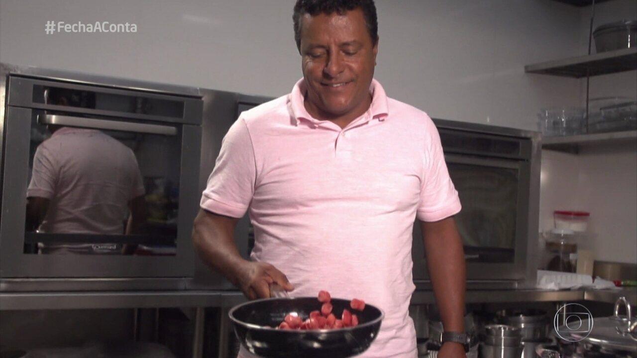 Vicente trabalha com culinária desde da juventude