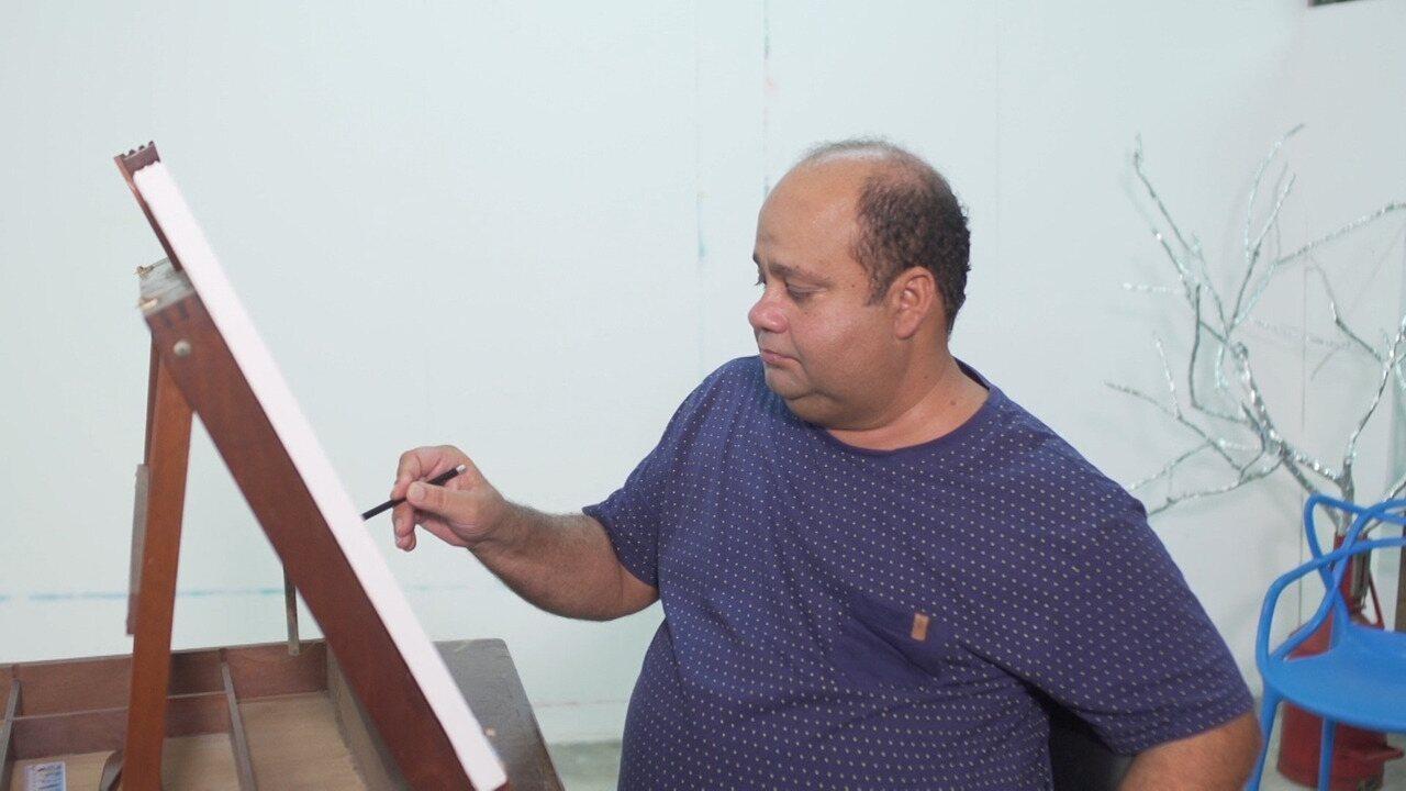 Reconhecido até fora do país, o artista plástico Marepe não sai de Santo Antônio de Jesus