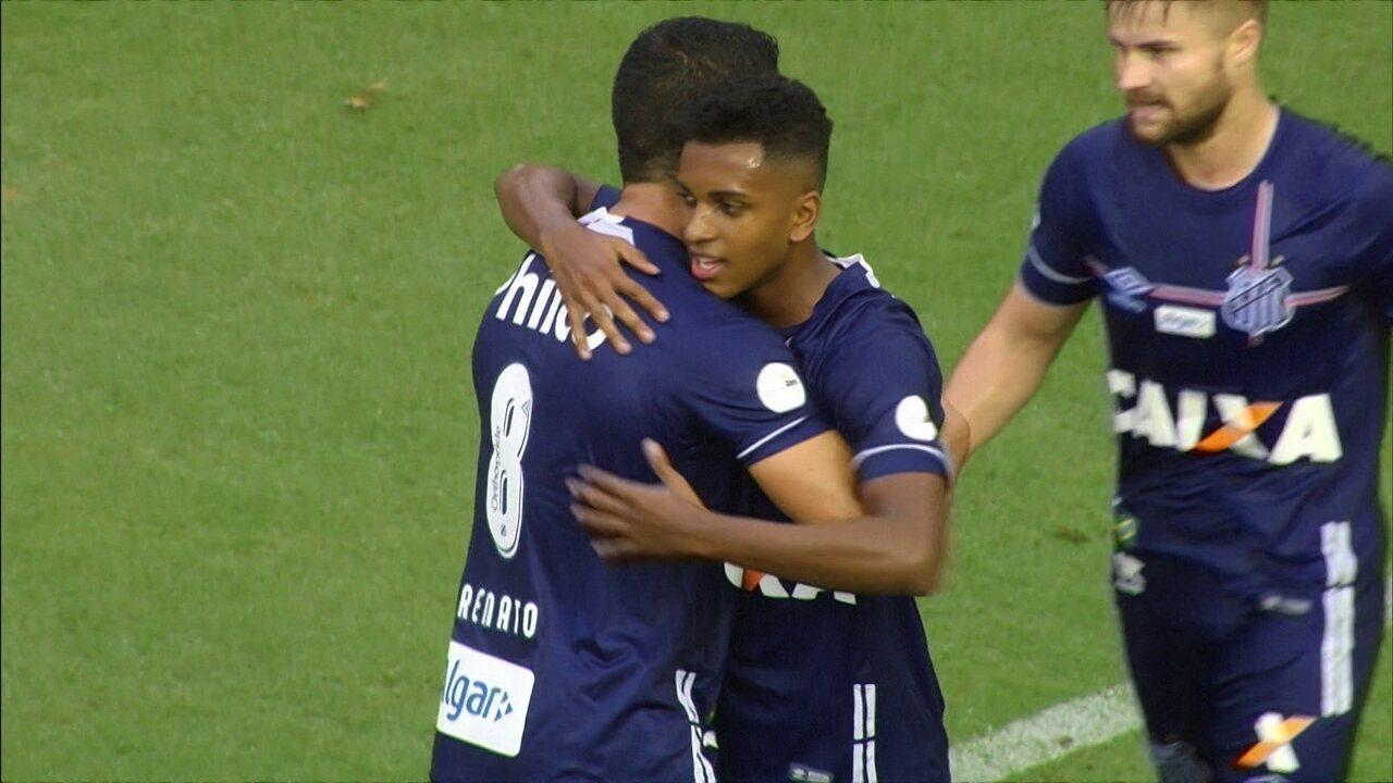 Os gols de Santos 5 x 2 Vitória pela 9ª rodada do Brasileirão