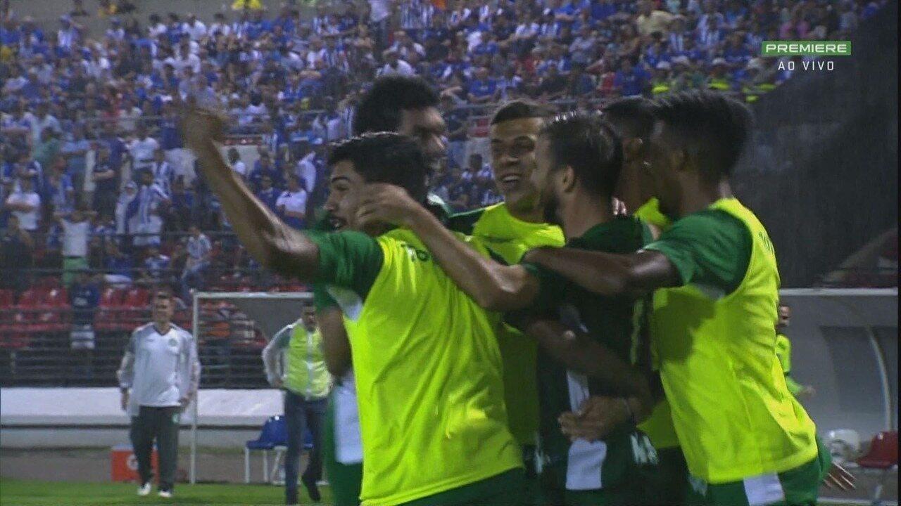 Os gols de CSA 1 x 2 Guarani, pela 9ª rodada da Série B
