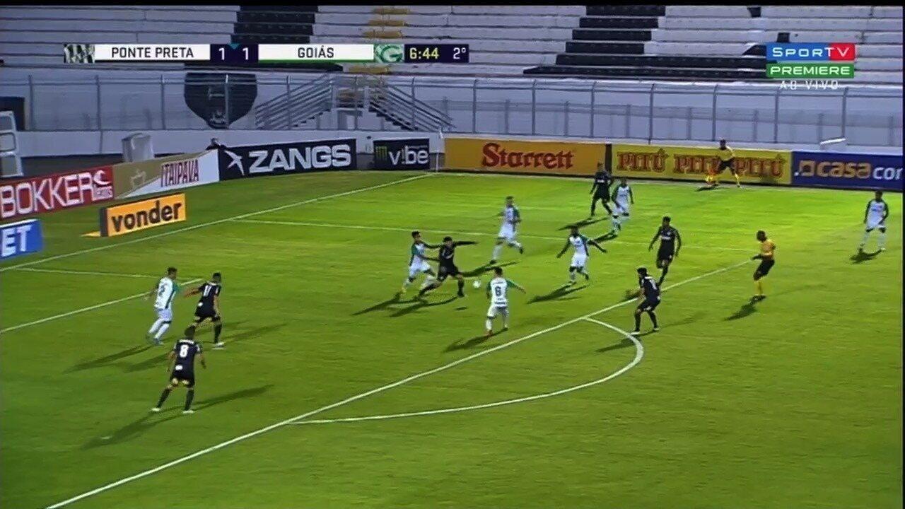 Os gols de Ponte Preta 2 x 1 Goiás - 9ª rodada da Série B