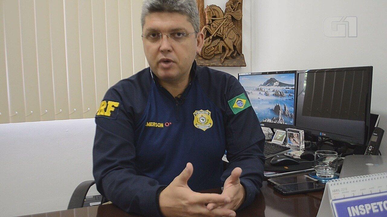 Inspetor Émerson João Soares, da PRF, comenta a atuação da polícia nas rodovias