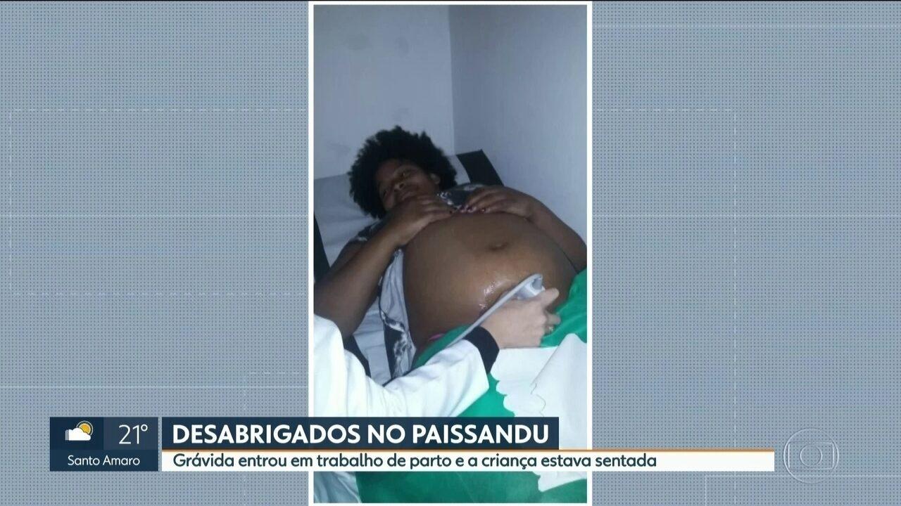 Mulher que deu à luz em barraca no Largo do Paissandu está fora de perigo