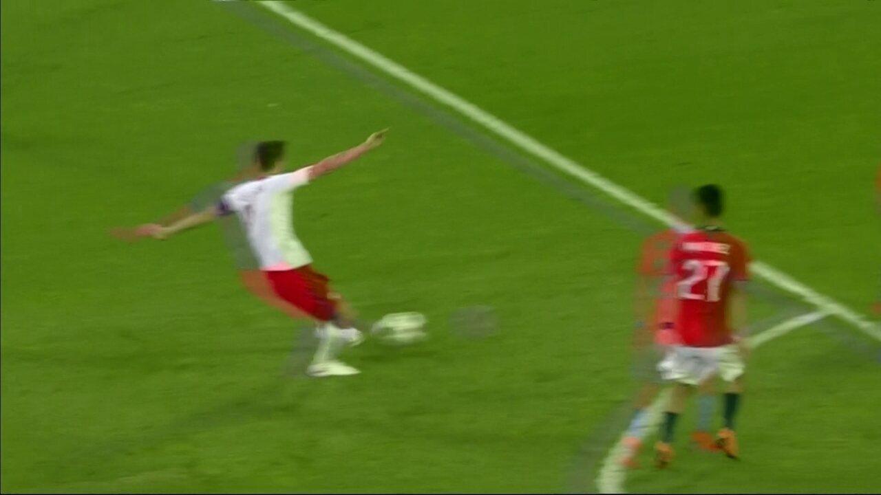 Os gols de Polônia 2 x 2 Chile em amistoso internacional