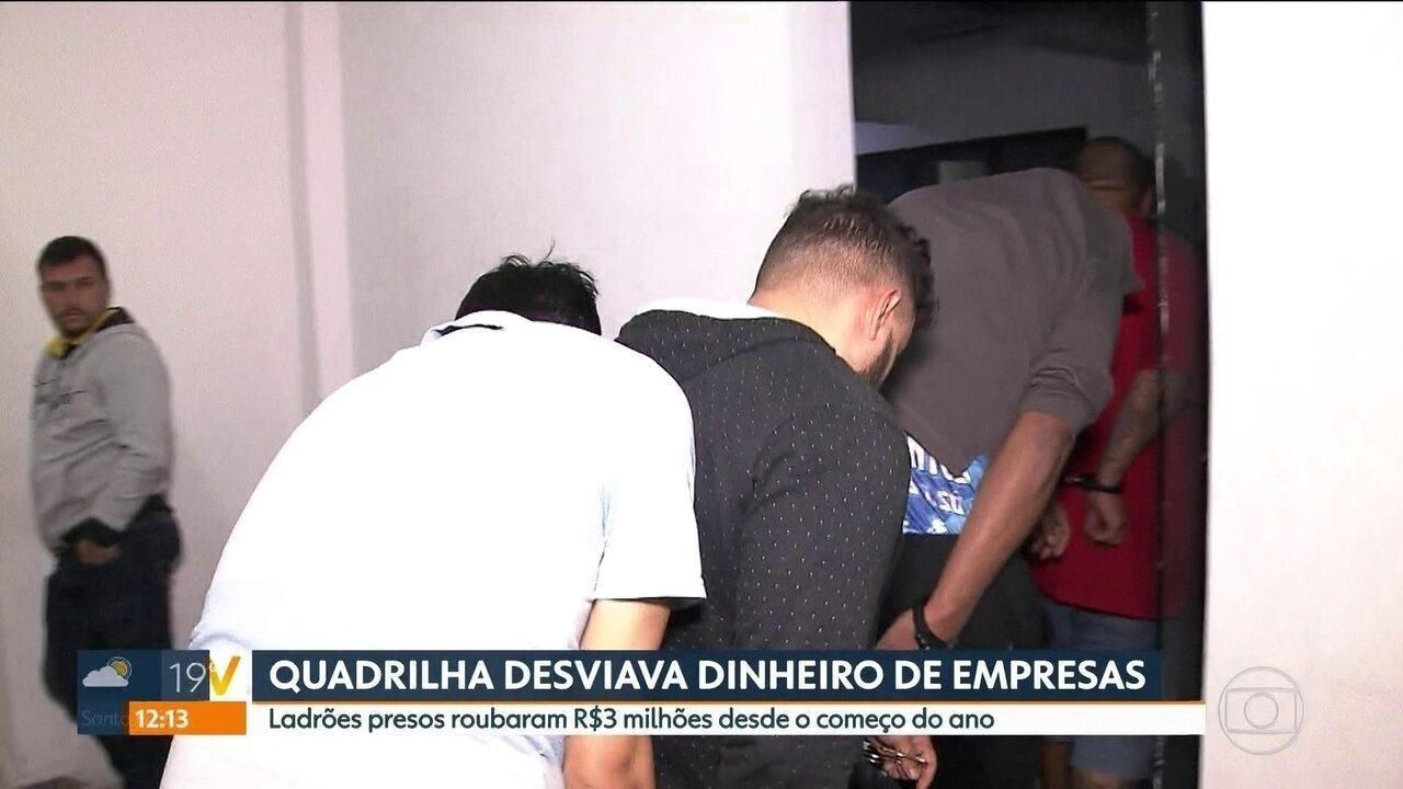Quadrilha é presa por desviar dinheiro de empresas em São Paulo e na Praia Grande