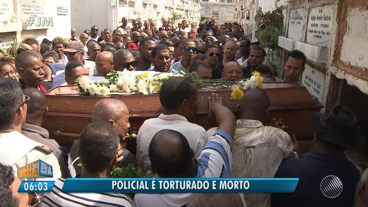 Torturado e morto: corpo de PM é enterrado em Salvador