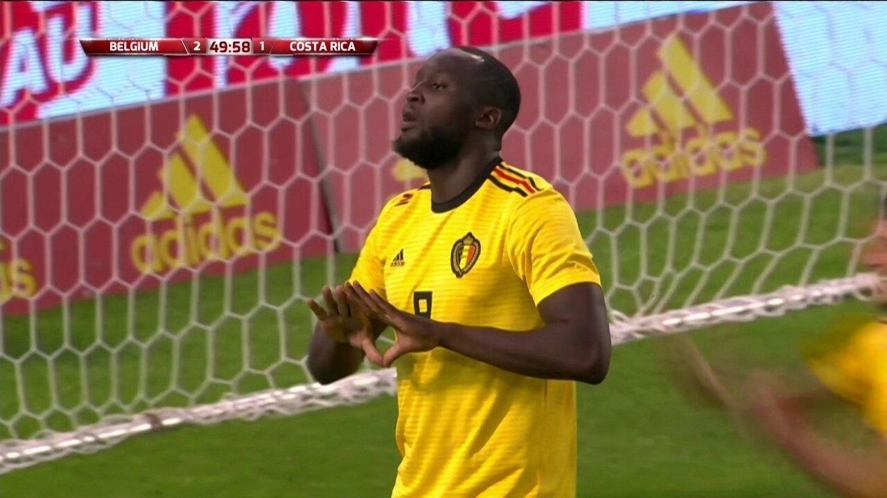 Confira o segundo gol de Lukaku contra a Costa Rica