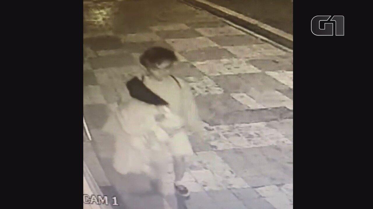 Vídeo mostra ladrão de vestidos de noiva em Franca, SP