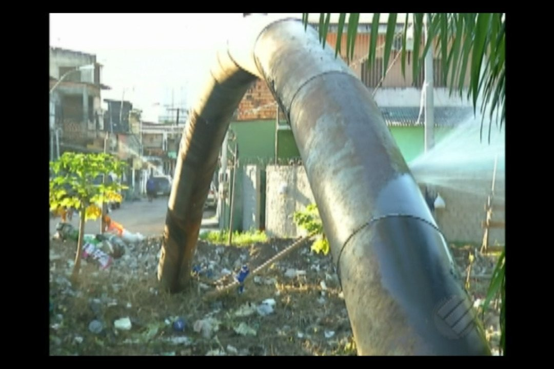 Tubulação velha pode estar causando desperdício de água no Telégrafo, em Belém