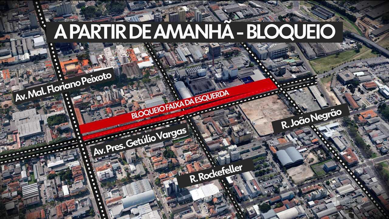 Obras na Av. Getúlio Vargas bloqueiam trânsito a partir desta quarta-feira (13)