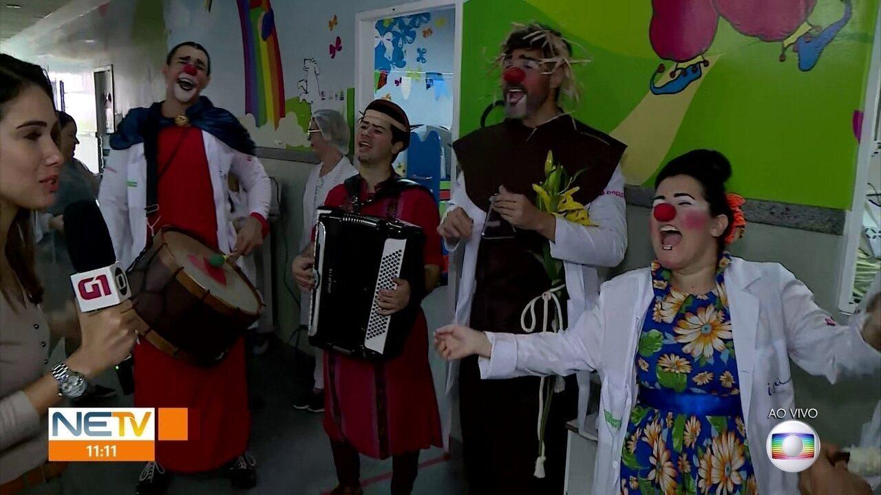 Doutores da Alegria fazem arraial em hospital no Centro do Recife
