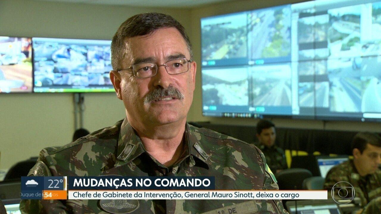 General Sinott deixa o comando do Gabinete da Intervenção no RJ