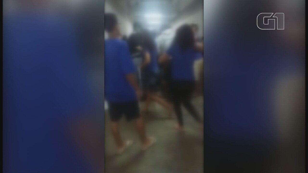 Estudante é cortada por lâmina após brigar com colega por namorado em Cubatão, SP