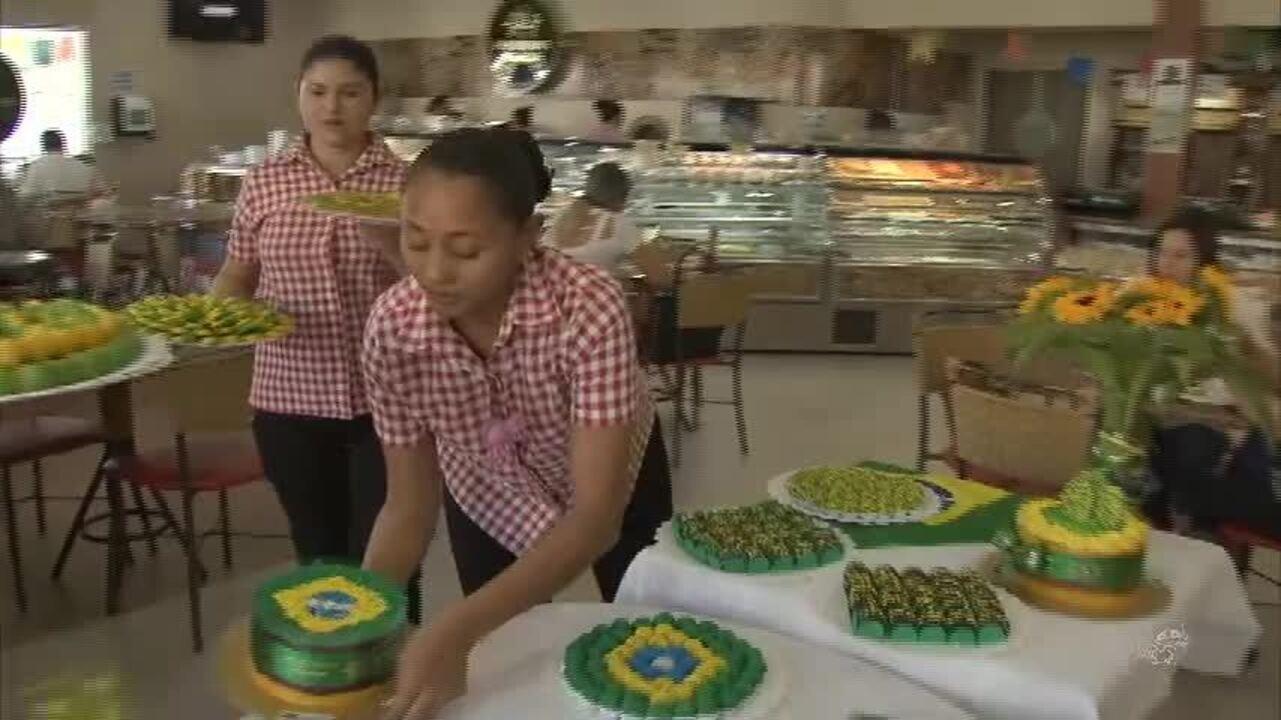 Padarias investem em decorações e produtos verdes e amarelos para a Copa do Mundo