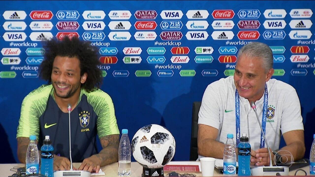 Marcelo será o capitão da seleção na estreia da Copa do Mundo