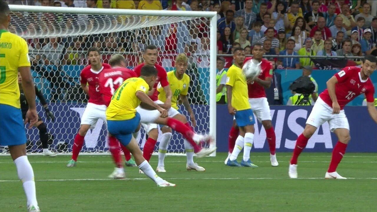 Os gols de Brasil 1 x 1 Suíça pela Copa do Mundo de 2018