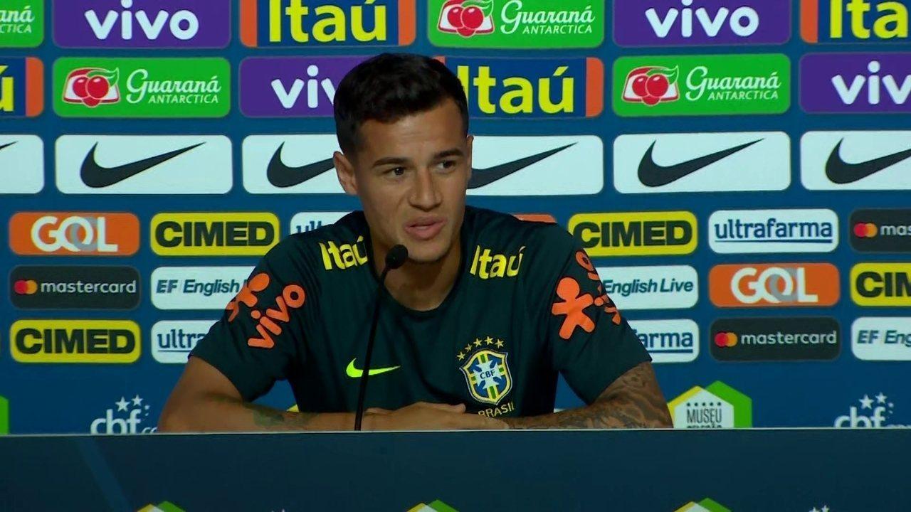 Philippe Coutinho minimiza saída de Neymar do treino: