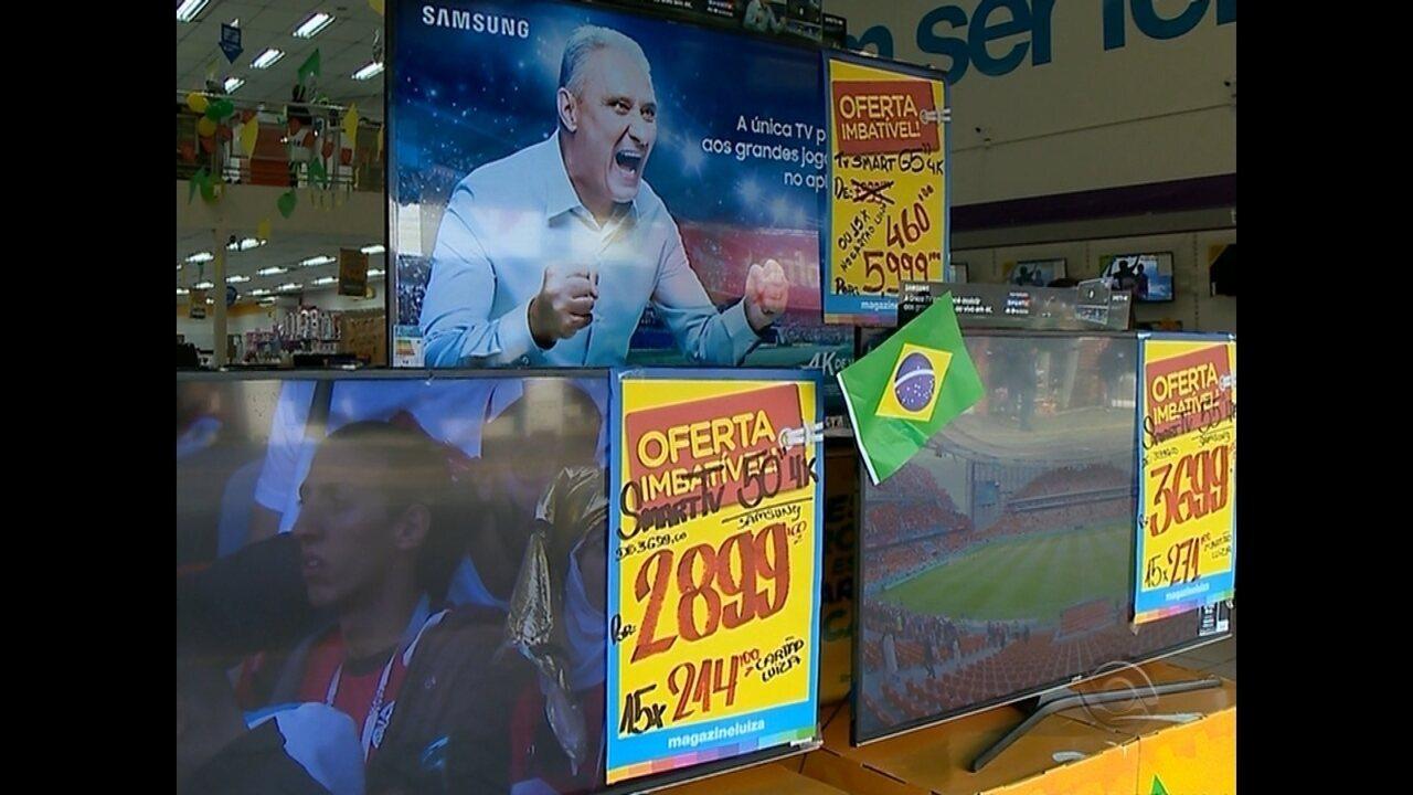 Venda de televisores cresce em Santa Maria com a chegada da Copa do Mundo