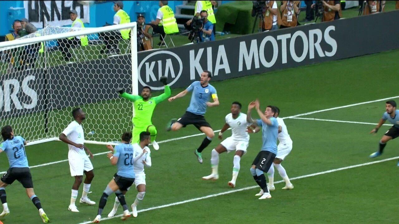 Melhores momentos: Uruguai 1 x 0 Arábia Saudita pela Copa do Mundo 2018