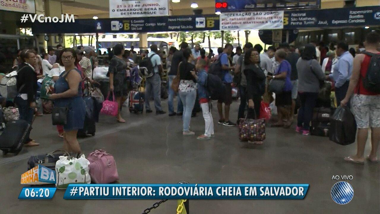 Destino São João: movimento já é intenso na rodoviária de Salvador