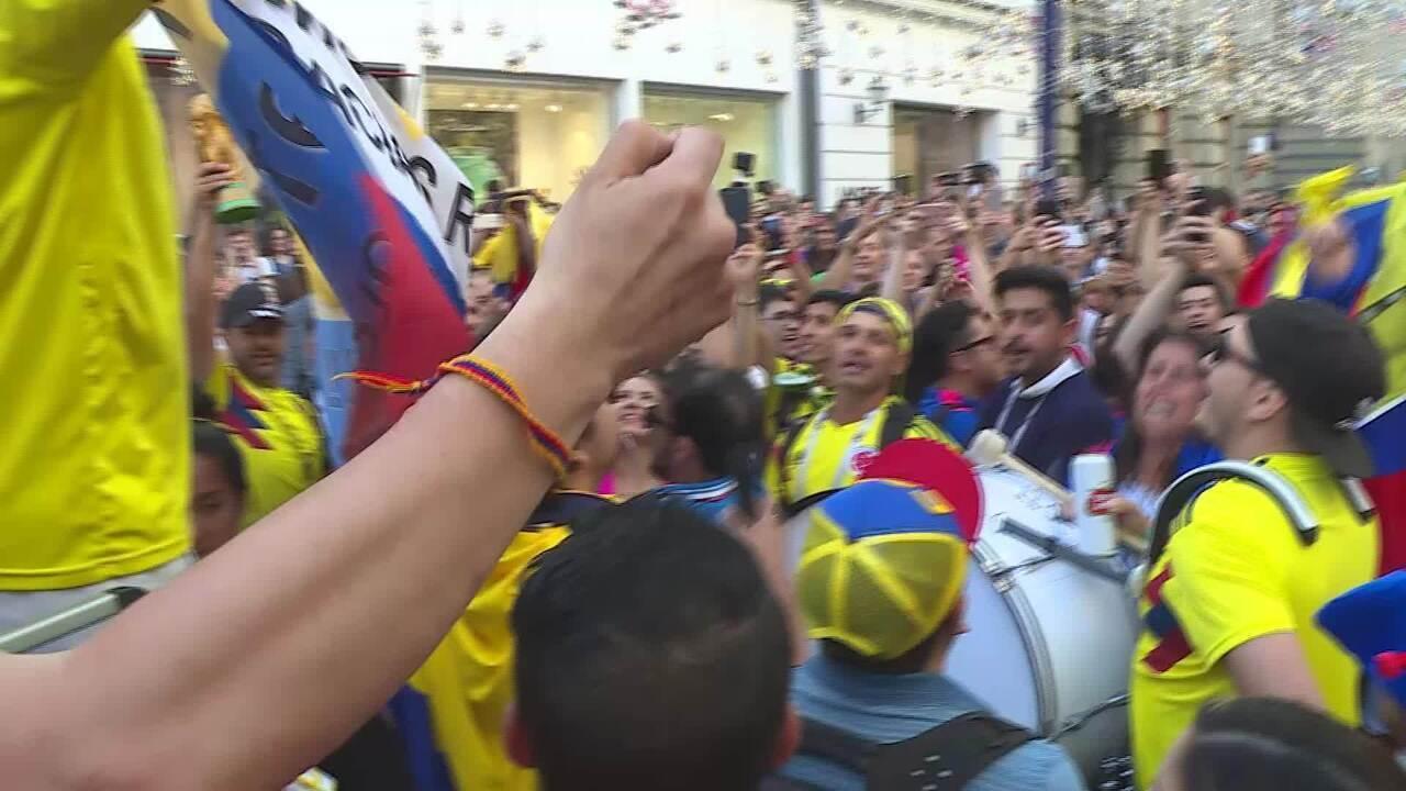 Música da torcida da Colômbia na Copa