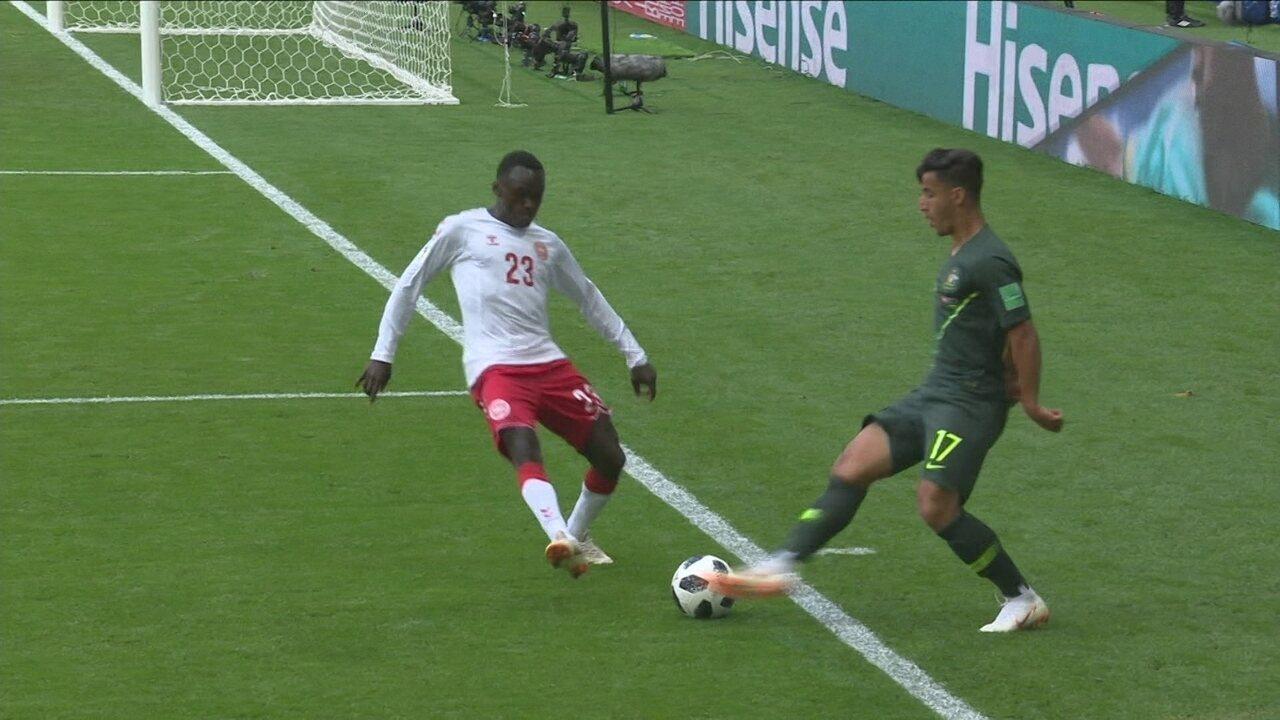Melhores momentos de Dinamarca 1 x 1 Austrália pela 2ª rodada da Copa do Mundo