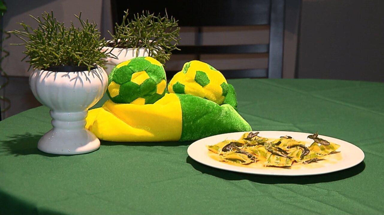 Em clima de Copa a receita de ravióli verde e amarelo