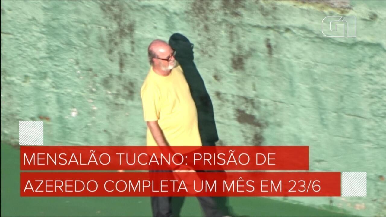 Mensalão tucano: Imagens exclusivas mostram Eduardo Azeredo em banho de sol na prisão