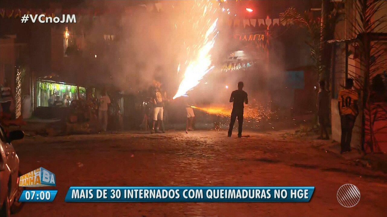 Alerta: São João termina com saldo de 36 queimados atendidos no HGE