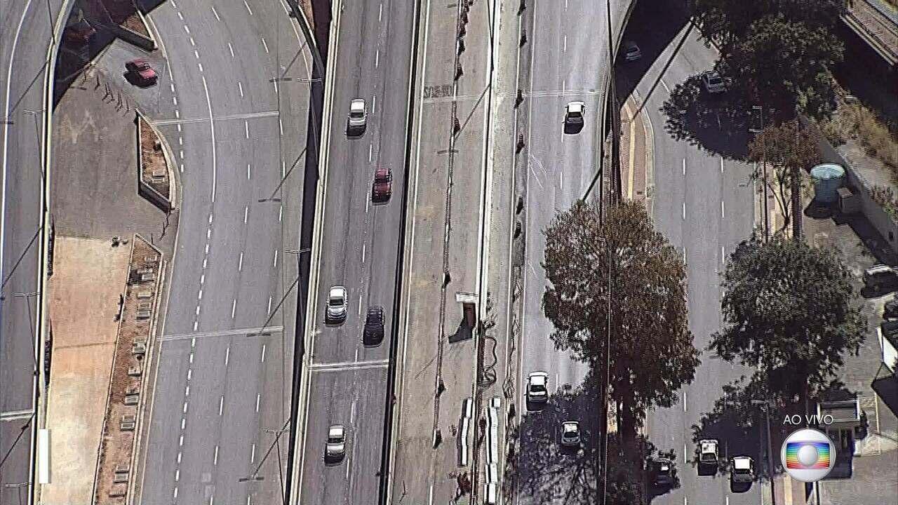 Problemas de sinalização impedem liberação de acesso ao Viaduto Leste, em BH