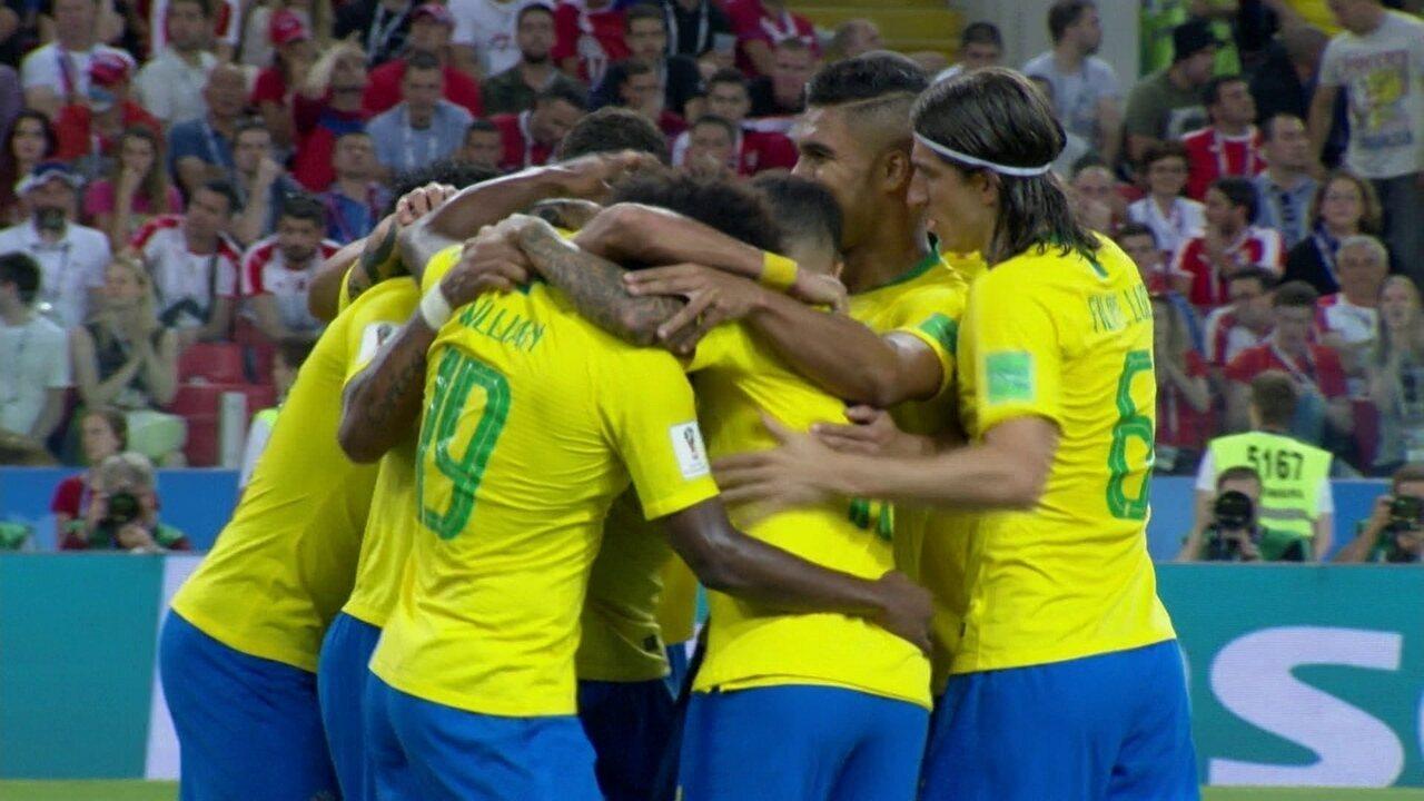 Os gols de Sérvia 0 x 2 Brasil pela Copa do Mundo 2018