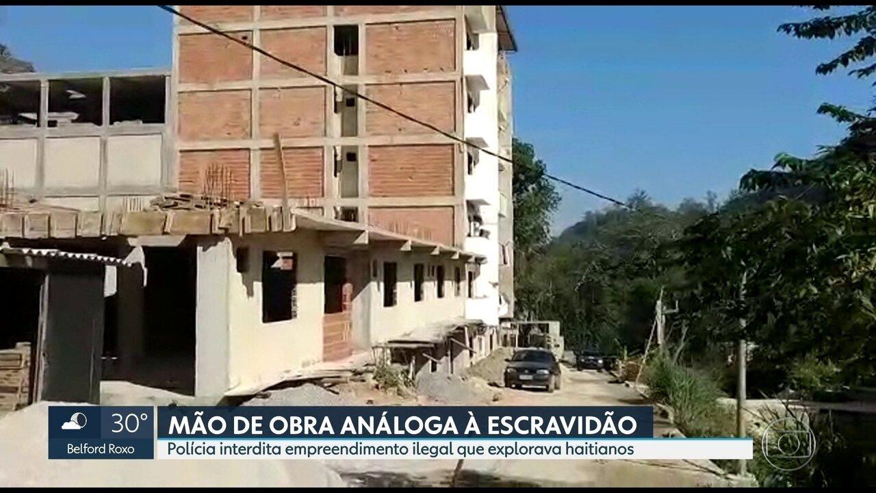 Polícia interdita empreendimento ilegal em Jacarepaguá