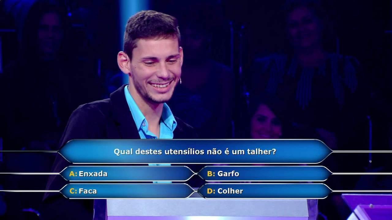 João Vernier participa do 'Quem Quer Ser Um Milionário?'