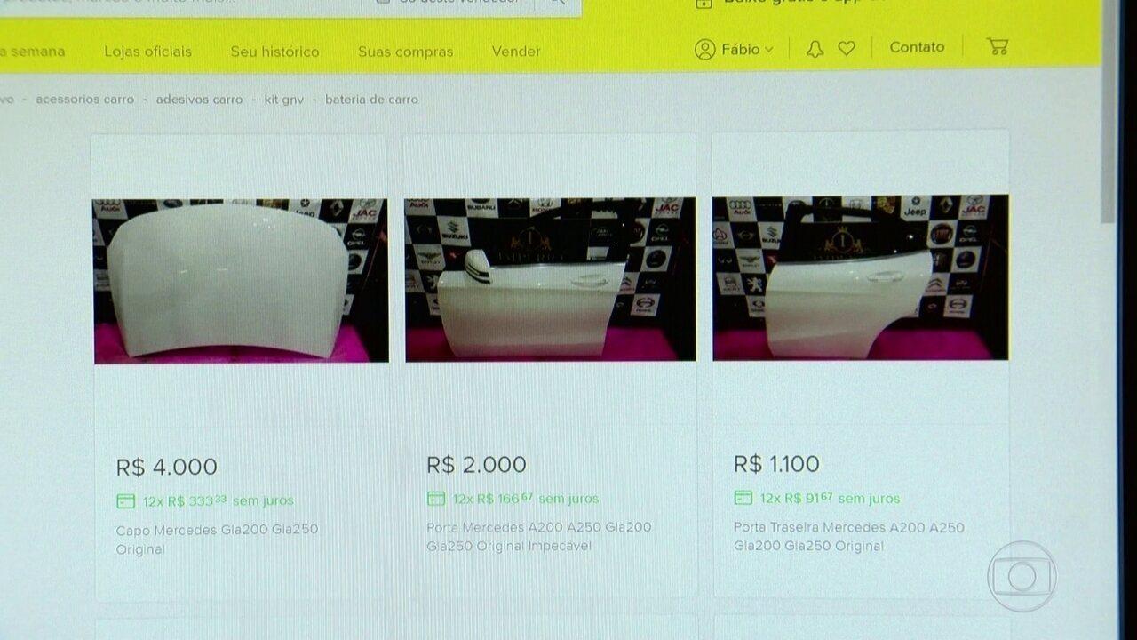 Ferros-velhos virtuais vendem na web peças de carros roubados ou furtados
