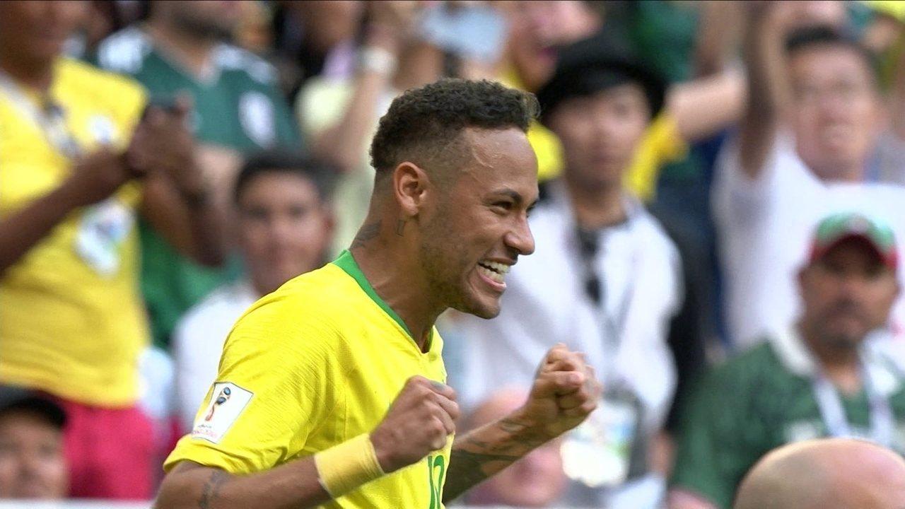 2cad273046 Brasil se torna país com mais gols em Copas  Neymar se isola como 4º ...