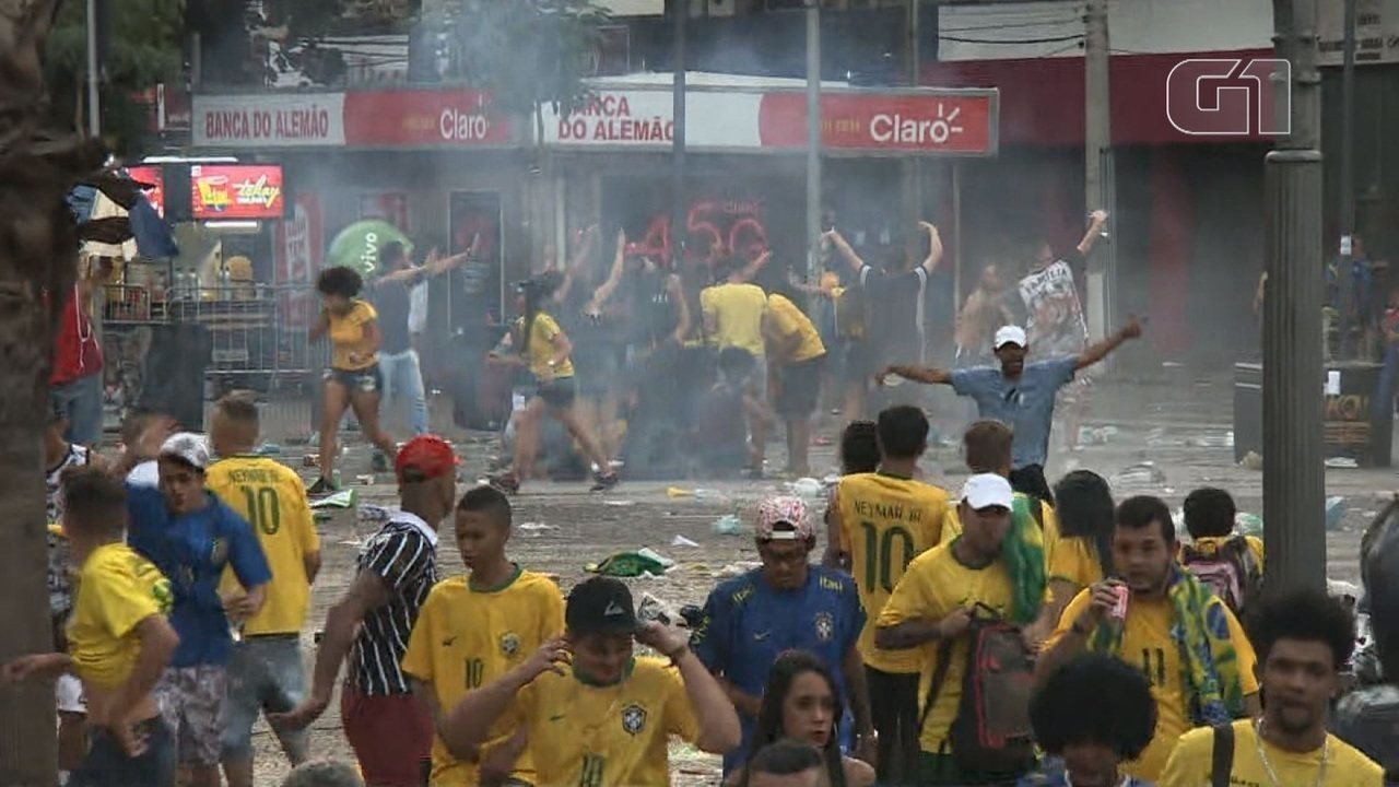 Jogo do Brasil no Largo do Rosário em Campinas termina com confusão