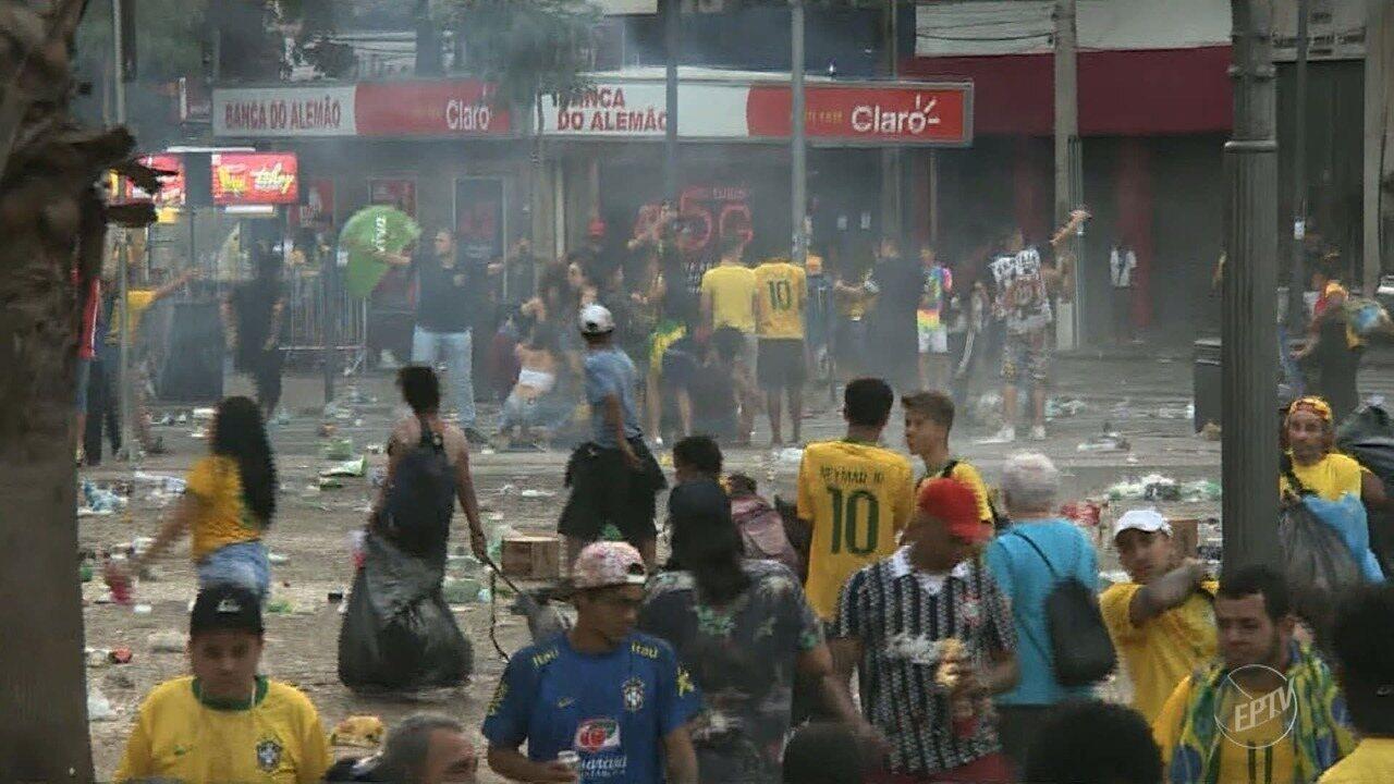 Final de jogo entre Brasil e Bélgica termina em confusão em Campinas
