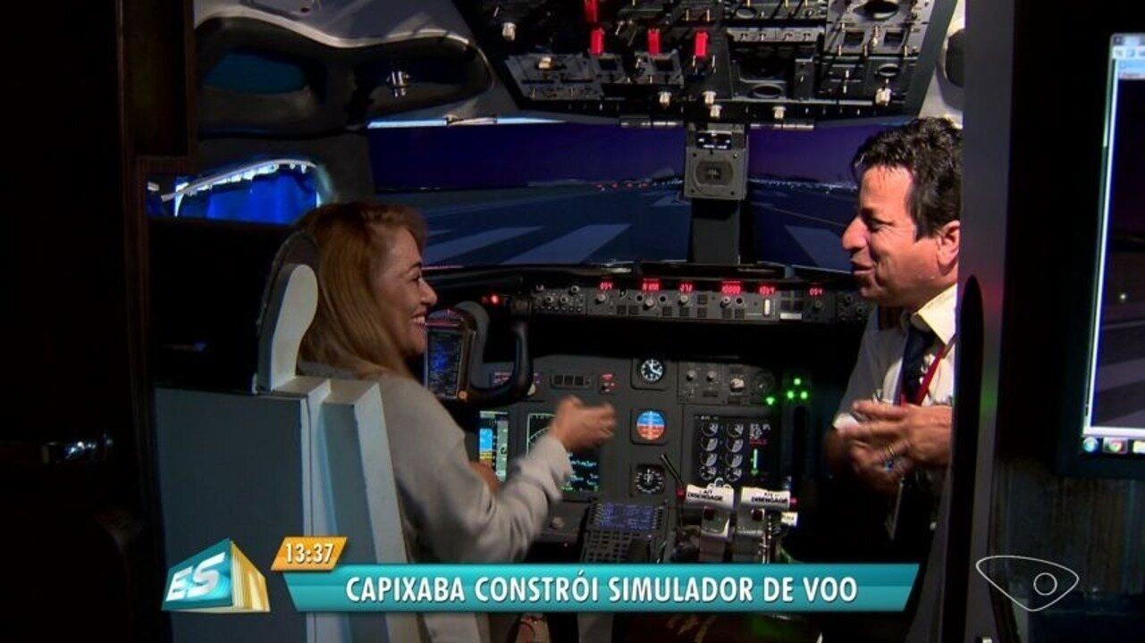 Capixaba constrói simulador de avião