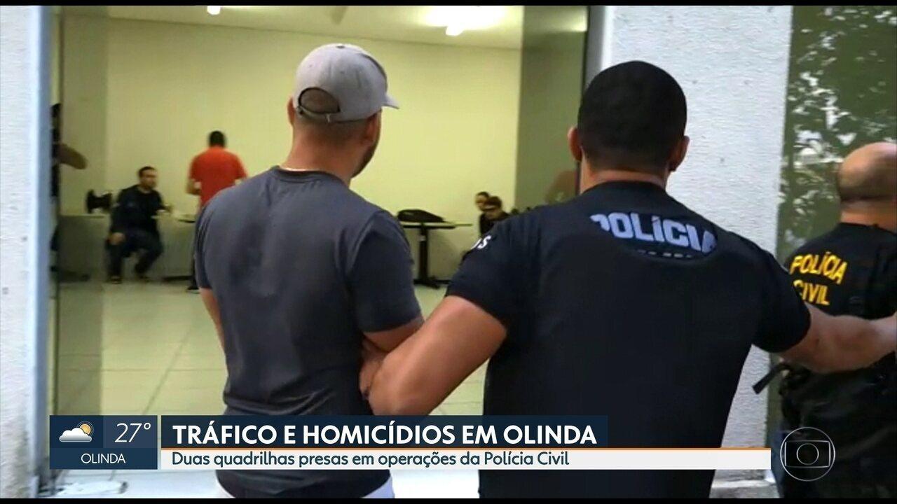 Quadrilhas desarticuladas em Olinda em ações da polícia eram comandadas por presidiários